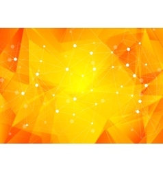 Bright orange low poly communication background vector