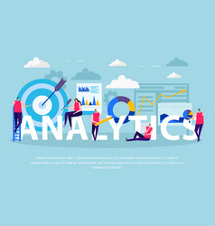 business analytics flat composition vector image