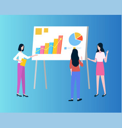 business presentation with graphics and charts vector image