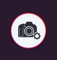 Camera repair service icon vector