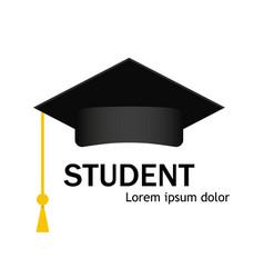 Cap icon hat student education in university vector
