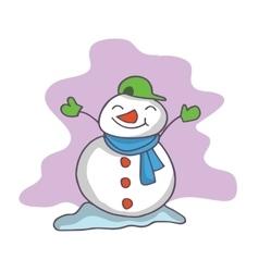 Cartoon of snowman collection stock vector image