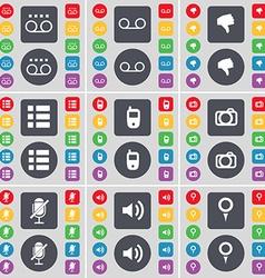 Cassette Dislike List Mobile phone Camera vector