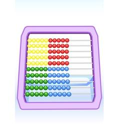Children abacus vector