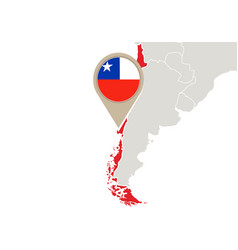 Chile on world map vector