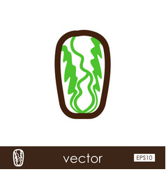 chinese cabbage outline icon vegetable vector image