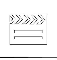 cinema clapboard icon design vector image