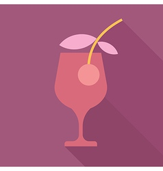 cocktail glass with shadow vector image vector image