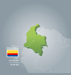 colombia information map vector image