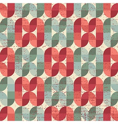 Colorful worn textile geometric seamless pattern vector