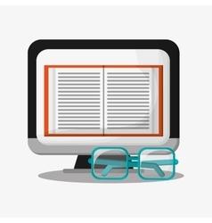 Computer and digital marketing design vector image