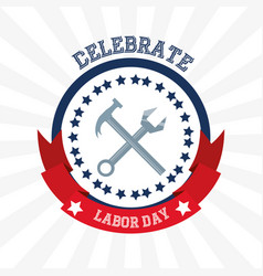 Construction tools to celebrate labor day vector