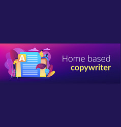 copywriting concept banner header vector image