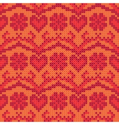 Cross stitch background vector