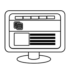 Electronic device with commerce icon vector