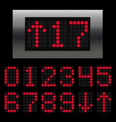 Elevator digital numbers vector