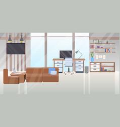 empty no people contemporary workspace area vector image