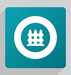 Flat fence icon vector