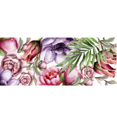 floral watercolor background beautiful vector image