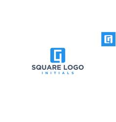 G negative space logo design inspiration vector