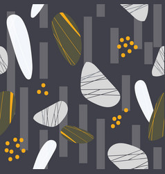 Gold and grey stones seamless pattern vector