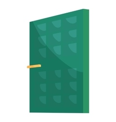 Green house door icon cartoon style vector image