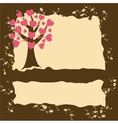 Grunge tree background vector image