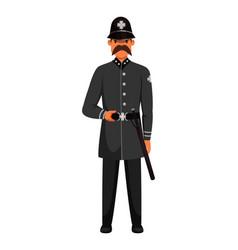 Guard man queens patrol soldier character in post vector