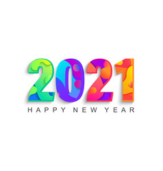 happy 2021 new year abstract greeting card vector image