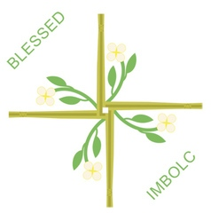 Imbolc greeting card vector image