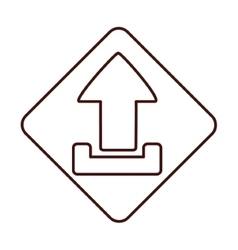 Isolated arrow inside frame design vector
