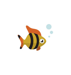 isolated tuna flat icon seafood element vector image