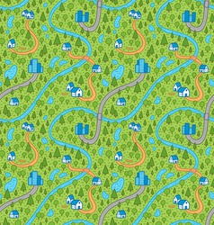 landscape pattern in color vector image