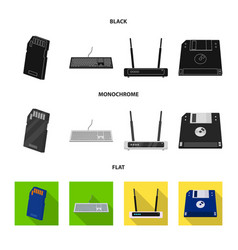 laptop and device logo set vector image