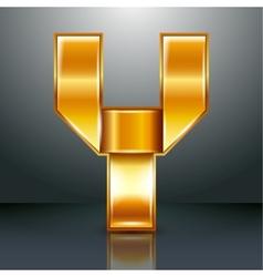 Letter metal gold ribbon - Y vector