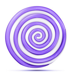 lollipop isolated realistic candy round vector image