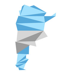 low poly style map of argentina vector image