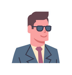 male wearing sunglasses emotion icon isolated vector image
