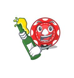 Mascot cartoon design gambling chips vector