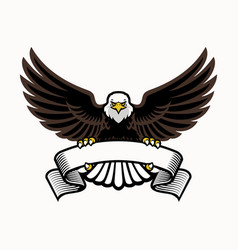 Mascot eagle grip blank ribbon vector