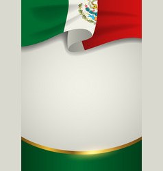Mexico insignia with decorative golden line vector