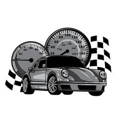 monochromatic european classic sports car vector image