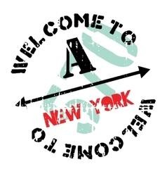 New York stamp vector