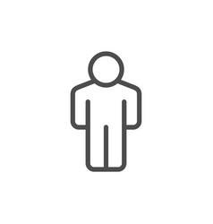 person line icon vector image
