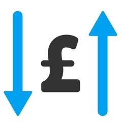 Pound Swap Flat Icon Symbol vector