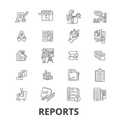 reports documents analytics paper data vector image