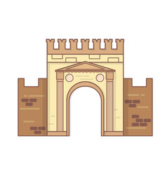 rimini emilia romagna italy arch of augustus vector image