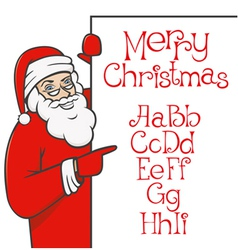 Santa claus with christmas alphabet 01 vector