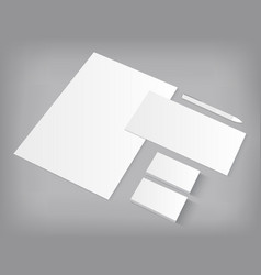 set corporate identity templates mock-up vector image
