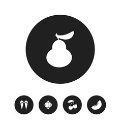 set of 5 editable dessert icons includes symbols vector image